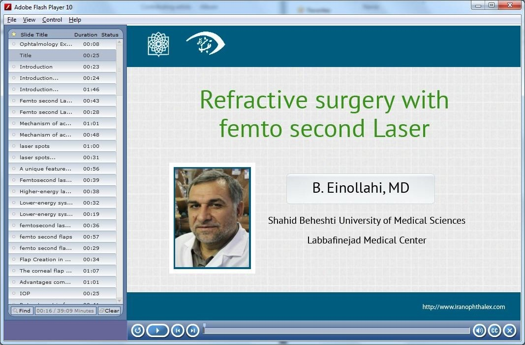 Refractive surgery with femtosecond Laser